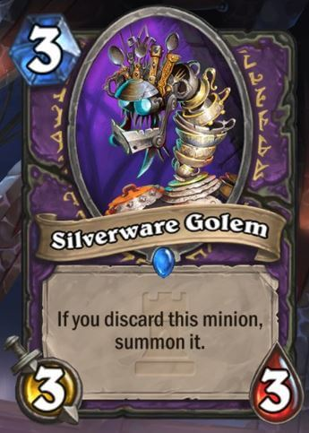 Silverware Golem Hearthstone Card One Night in Karazhan