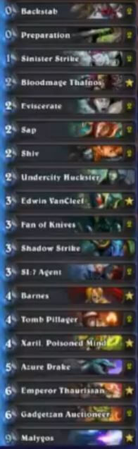 Sjow Malygos Barnes Miracle Rogue Deck