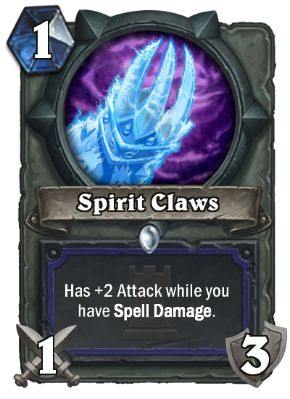 Spirit Claws Hearthstone Card One Night in Karazhan