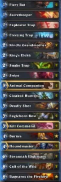 Superjj Top 50 Legend Barnes Secret Hunter Deck