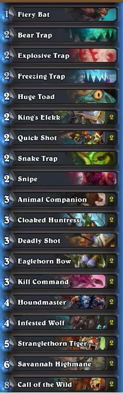 Trump Karazhan Midrange Hunter Deck w Cloaked Huntress