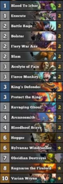 Trump Protect the King Warrior Deck