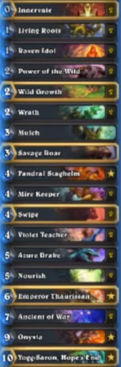Tyler Rank 1 Legend Yogg Druid Deck