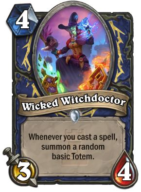 Wicked Witchdoctor Hearthstone Card One Night in Karazhan
