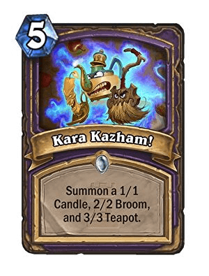 Kara Kazham Hearthstone Card One Night in Karazhan