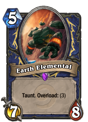 Earth Elemental Hearthstone Card Shaman