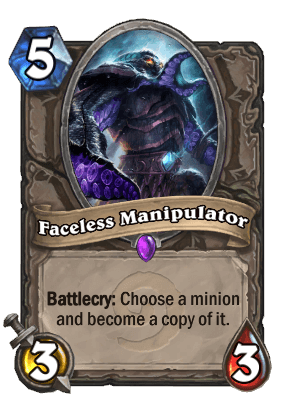 Faceless Manipulator Hearthstone Card
