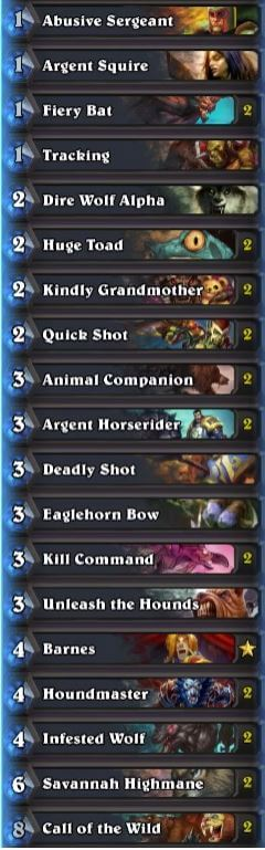 fr0zen midrange hunter deck season 30 sept