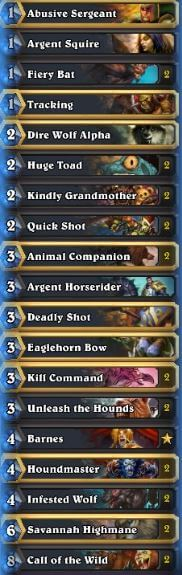 Fr0zen PAX One Nation of Gamers Midrange Hunter Deck