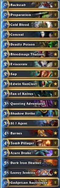 Fr0zen PAX One Nation of Gamers Miracle Rogue Deck
