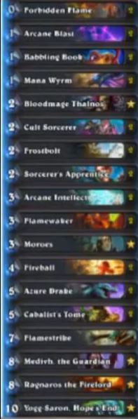 Hotform Medivh the Guardian Mage Karazhan Deck