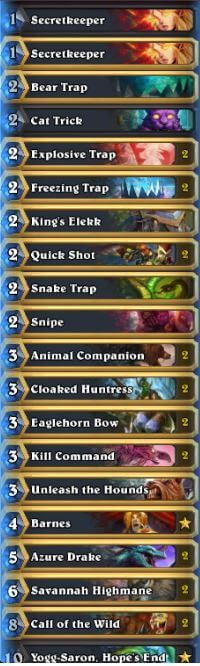 JAB Secret Hunter Deck w Barnes September 16
