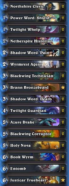 karazhan aggro dragon priest deck sep 16