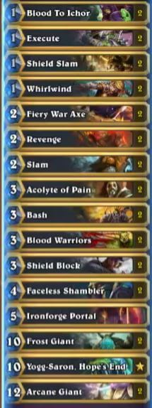 Reynad Karazhan Blood Warriors Giant Deck