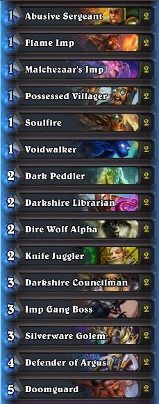 Sjow Rank 1 Legend Discard Warlock Deck List