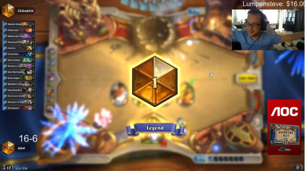 Sjow Rank 1 Legend Discard Warlock Sep Season 30