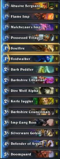 thijs high legend discard zoo warlock deck