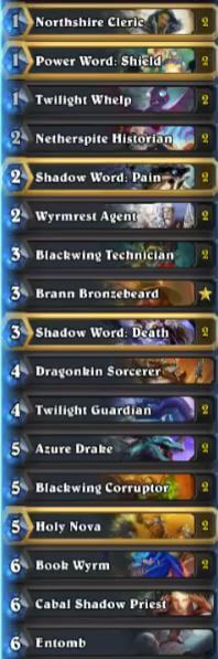Thijs High Legend Karazhan Dragon Priest Deck