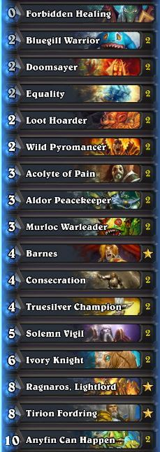 Thijs High Legend Murloc Paladin Deck