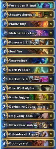Top 5 Legend Discard Warlock Deck