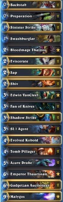 Kolento Malygos Rogue Deck Season 31 Oct 16