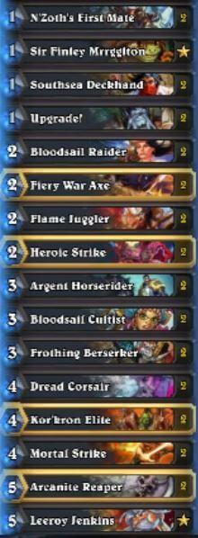 Naiman Pirate Warrior Deck Oct Season 31