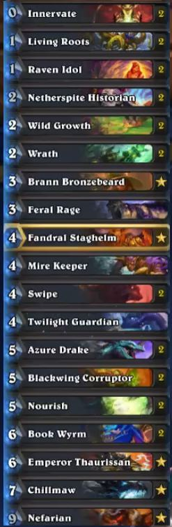Savjz Dragon Druid Legend Deck Season 31 Oct 16