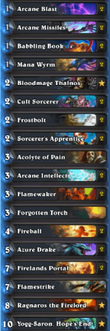 Asmodai Cosplaygrill 12 Win Heroic Tavern Brawl Tempo Mage Deck