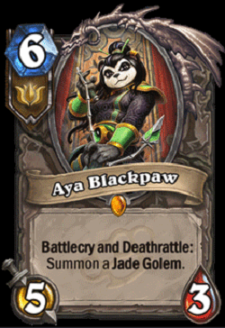 Aya Blackpaw HS Legendary Card
