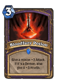 Bloodfury Potion HS Warlock Card