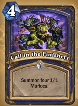 Call in the Finishers HS Shaman Card