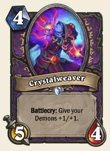 Crystalweaver HS Warlock Card