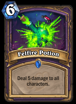 Felfire Potion HS Warlock Card