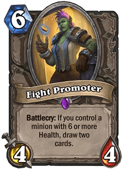 Fight Promoter HS Card