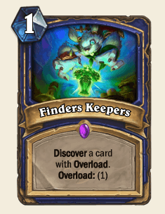 Finders Keepers HS Shaman Card