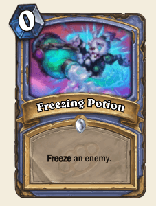 Freezing Potion HS Mage Card
