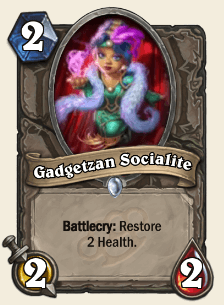 Gadgetzan Socialite HS Card