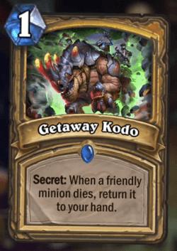 Getaway Kodo HS Card Paladin Secret