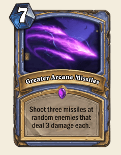 Greater Arcane Missiles HS Mage Card