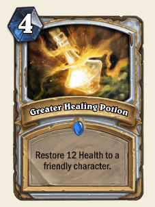 Greater Healing Potion HS Priest Card