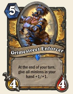 Grimestreet Enforcer HS Paladin Card