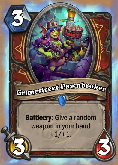 Grimestreet Pawnbroker HS Warrior Card
