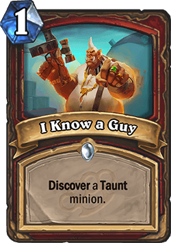 I Know a Guy HS Warrior Card