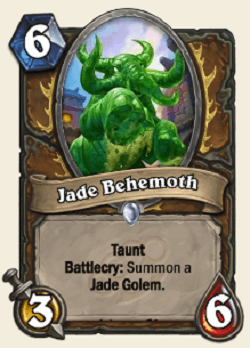 Jade Behemoth HS Druid Card