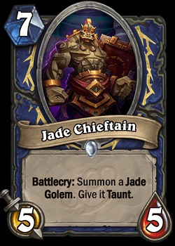 Jade Chieftain HS Shaman Card