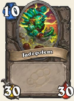 Jade Golem HS Card 30 Attack