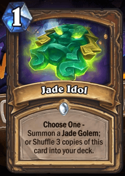 Jade Idol HS Druid Card