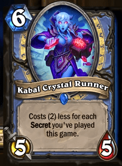 Kabal Crystal Runner HS Mage Card
