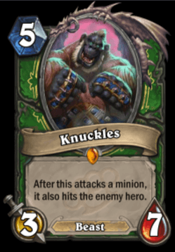 Knuckles HS Hunter Legendary Card
