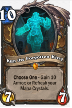 Kun the Forgotten King HS Druid Card